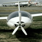 B13 mit ausgeklapptem Oehler-Propeller Anfang der 1990er-Jahre