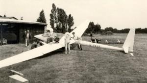 Im Juli 1977 auf dem Flugplatz Ehlershausen