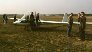 Vorbereitung zum Erstflug in Strausberg