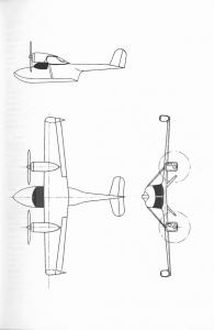 Dreiseitenriss des Amphibiums B10